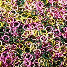 Rose Garden Enameled Copper Jumpring Mix