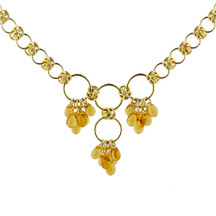 Golden Tear Drops Chain Maille Necklace Kit