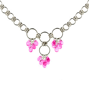 Blushing Bride Chain Maille Necklace Kit