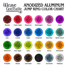 Anodized Aluminum Jump Ring Color Sampler