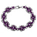 Plum Swirls Chainmaille Bracelet Kit