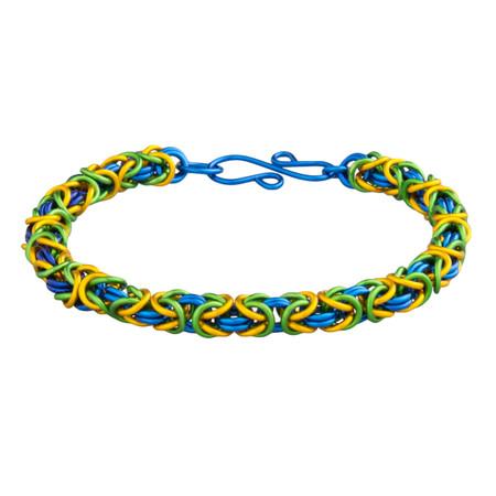 3 Color Anodized Aluminum Byzantine Bracelet Kit - Masquerade