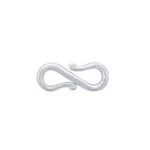 S Clasp, Argentium, 12.3x5.1