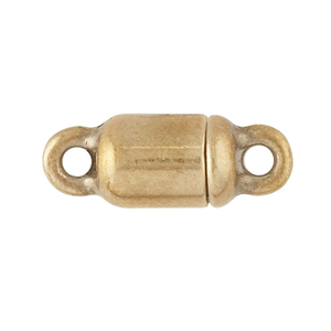 Cylinder, Magnet Clasp, Bronze, 13.7x5.2