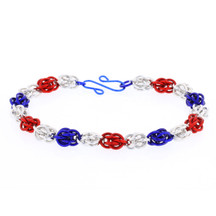 Firecracker  - Sweetpea Chainmaille  Bracelet Kit
