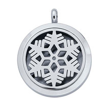 Stainless Steel Snowflake Aromatherapy Locket