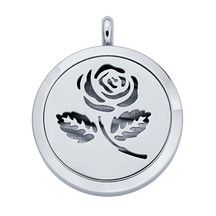 Stainless Steel Rose Aromatherapy Locket