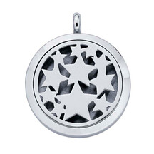 Stainless Steel Stars Aromatherapy Locket