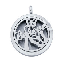 Stainless Steel Believe Aromatherapy Locket