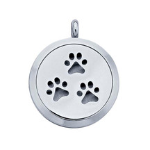 Stainless Steel Paws Aromatherapy Locket