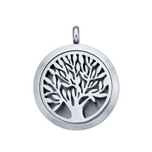 Stainless Steel Tree of Life Aromatherapy Locket