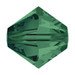 Emerald 5mm Swarovski® Crystal Bicones (5328)