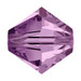 Light Amethyst 5mm Swarovski® Crystal Bicones (5328)