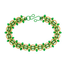 Blarney Stone - Beaded Helm Chain Chainmaille Bracelet Kit - By Emily Fiks