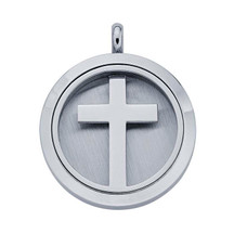 Stainless Steel Cross Aromatherapy Locket