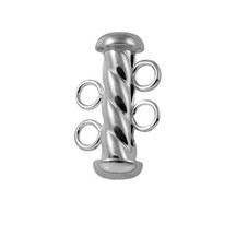 Tube Clasp Twisted, 2 Strand, 16mm