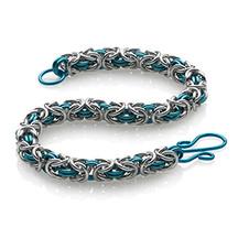 2-Color Byzantine Bracelet Kit - Silver/Pacific Blue