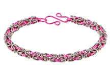 2-Color Byzantine Bracelet Kit - Think Pink!
