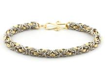 2-Color Byzantine Bracelet Kit - Silver/Gold