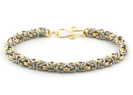 2 Color Byzantine Bracelet Kit Bright Aluminum Gold Enameled Copper