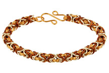 3-Color Enameled Copper Byzantine Bracelet Kit - Caramel Latte
