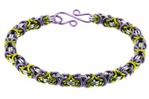 3-Color Enameled Copper Byzantine Bracelet Kit - Fields of Heather