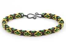 3-Color Byzantine Bracelet Kit - Mardi Gras