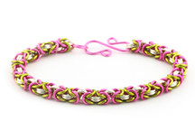 3-Color Enameled Copper Byzantine Bracelet Kit - Peony