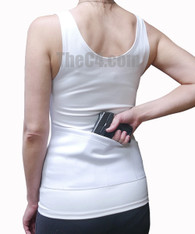 Reversible Multi- Pocket Compression Holster Tank Top, For Women