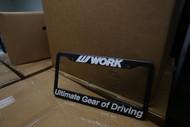 Work Wheels License Plate Frame