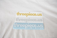 Threepiece.us Die Cut Sticker