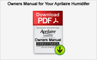Aprilaire Owners Manual