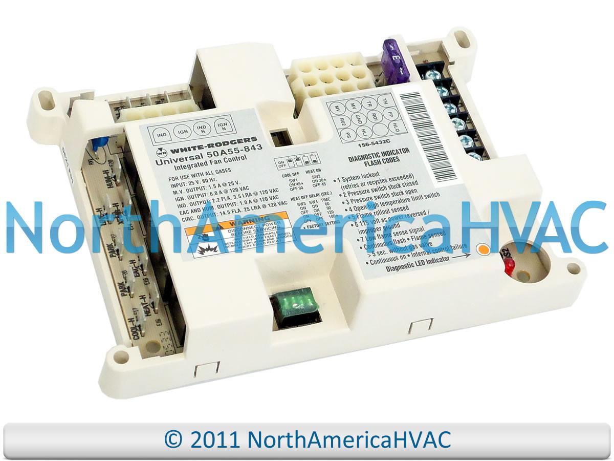 White Rodgers Furnace Fan Control Circuit Board 50a50 143 285 286