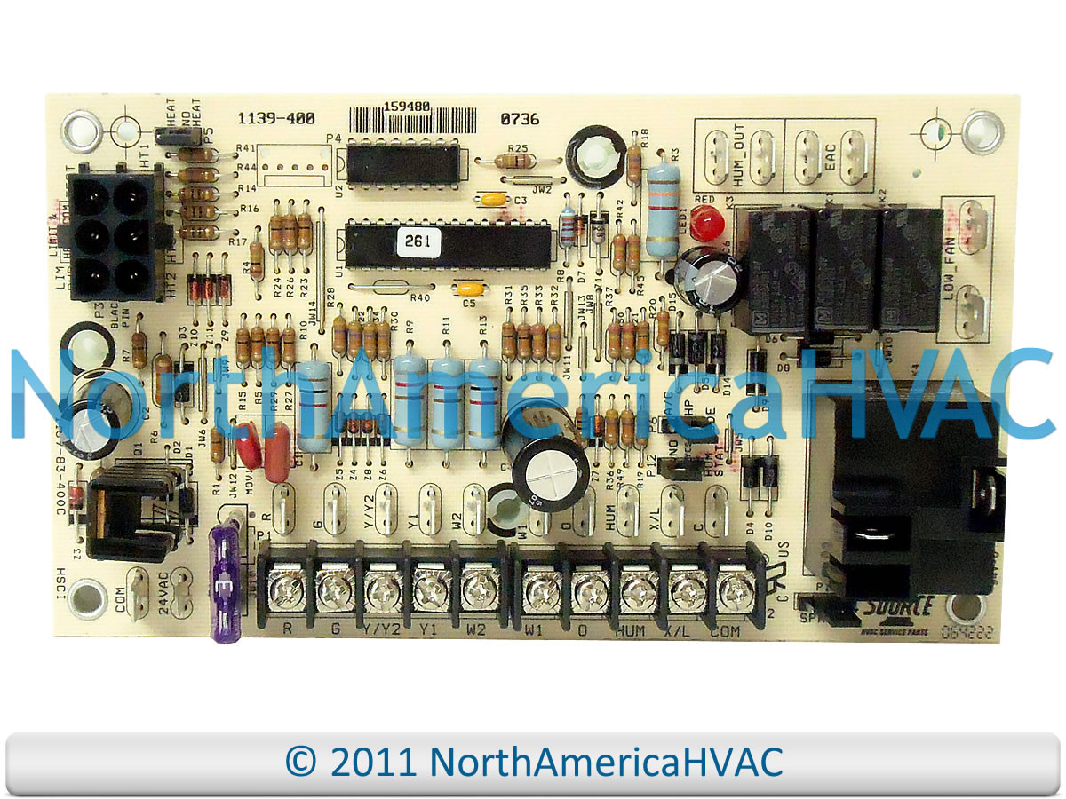 Oem York Luxaire Coleman Furnace Control Board Panel 1139 83 400 Circuit Wiring Diagram 159480