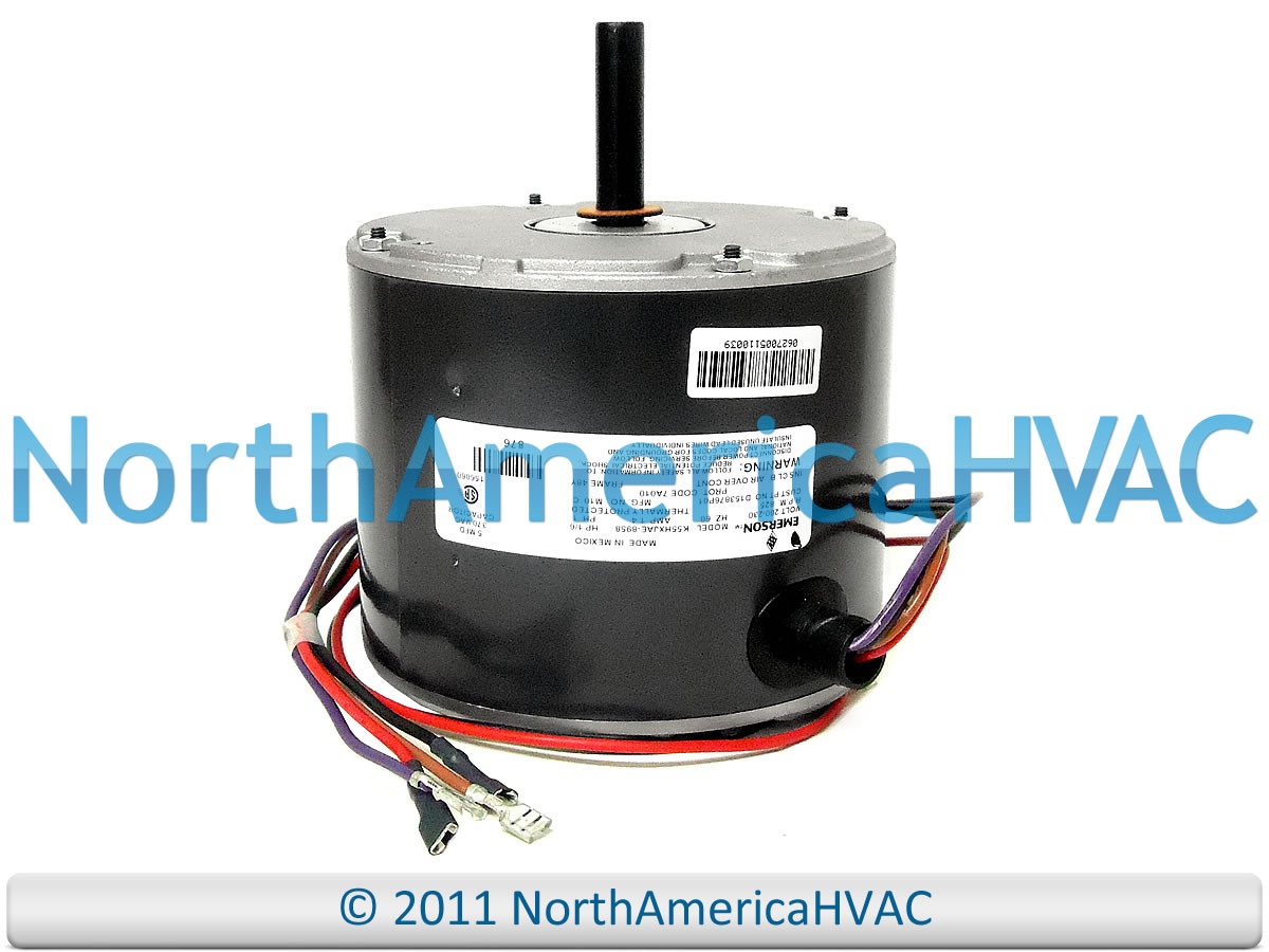 Emerson Condenser Fan Motor 1 6 Hp 230v K55hxjae 8958 North Wiring Harness Larger More Photos