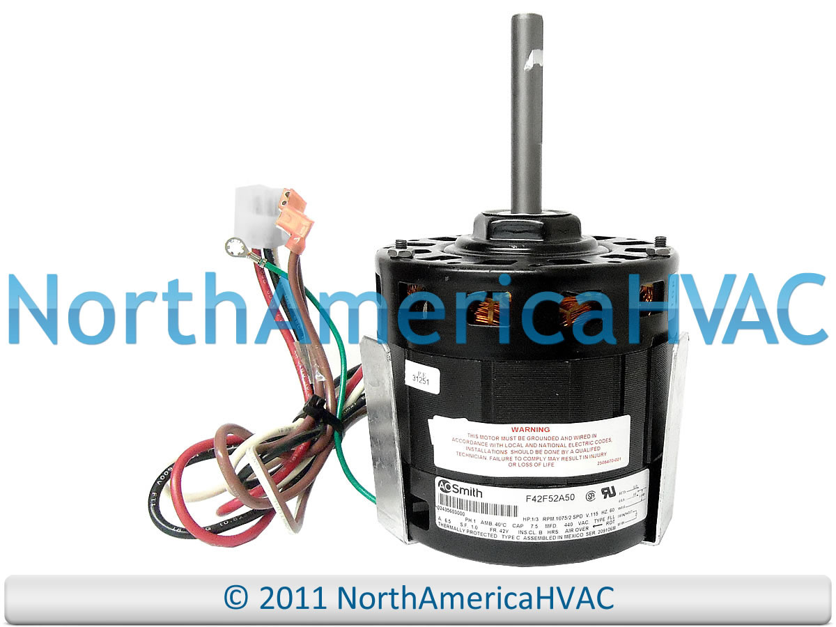 A.O.Smith Coleman 1/3 HP 115 Volt Furnace Blower Motor F42F52A50 ...