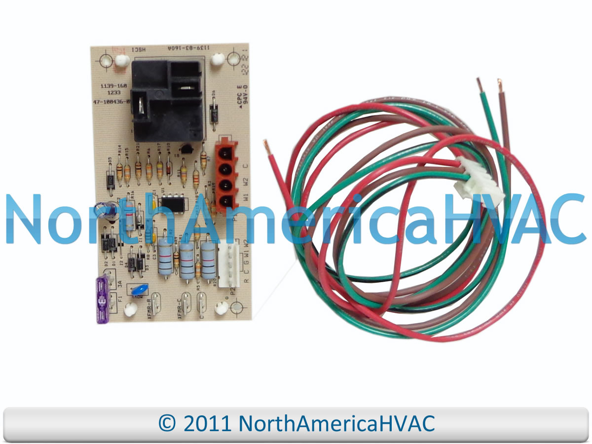 47 100436 84a Rheem Ruud Weather King Furnace Air Handler Control Circuit Board Wiring Larger More Photos