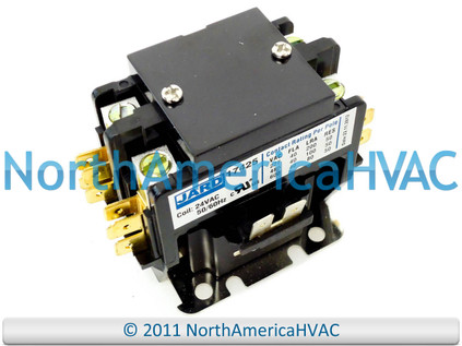 24 volt condenser contactor relay double 2 pole 40 amp. Black Bedroom Furniture Sets. Home Design Ideas