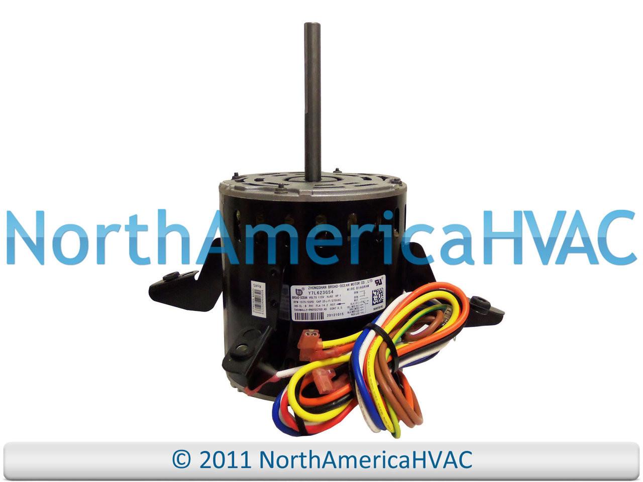 Oem Carrier Bryant Payne 1 Hp 115v Furnace Blower Motor Hc51tq145 Hvac Capacitor Wiring Diagram Y7l623g54