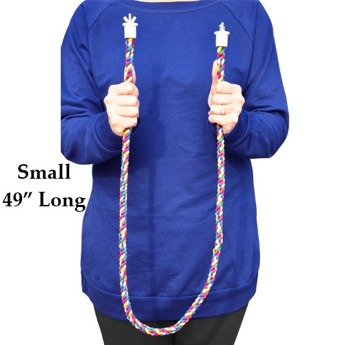 1901 Small rope perch, made from colored soft cotton, it measures approximately 49 inches long with a 1/2-inch rope diameter.