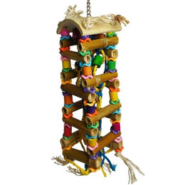 1086 Big bamboo tower is a super toy for your medium to large-sized feathered friends.