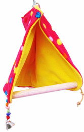 1427 Peekaboo bird tent, your bird will snuggle right into this soft fleece tent with a built-in perch, the open bottom tent design allows bird droppings to fall to the bottom of the cage.