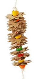 1248 will be the star of the show for those small birds in your family. A multitude of cardboard stars, colored plastic beads, and soft cotton rope, will keep those tiny beaks busy.
