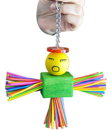 1154 Sticky is an angel of a toy for those small to medium-sized feathered friends in your family.