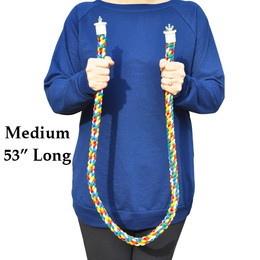 1900 Medium rope perch, made from colored soft cotton, it measures approximately 53 inches long with a 1-inch rope diameter.
