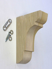 "Solid Hardwood Shelf Bracket  3"" X 5"""
