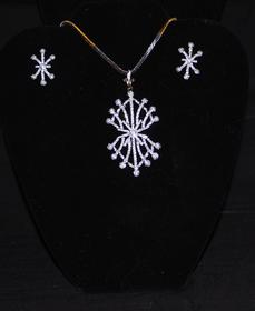 Designer Faux Diamond Necklace Set #D121