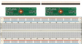 Schmartboard 2 pack of Schmartboard|ez .5mm Pitch, 64 Pin QFP/QFN to DIP Adapter Plus a Free Breadboard (204-0018-31)