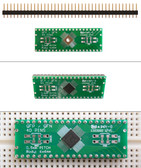 Schmartboard|ez 0.5mm Pitch, 40 Pin QFP/QFN to DIP adapter (204-0044-01)