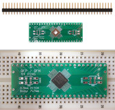Schmartboard|ez 0.5mm Pitch, 44 Pin QFP/QFN to DIP adapter (204-0045-01)